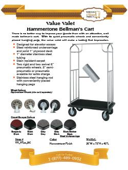 8efe5bcab4e6 Value Valet Bellman's Cart- Hammertone Finish- Bellman's Carts ...